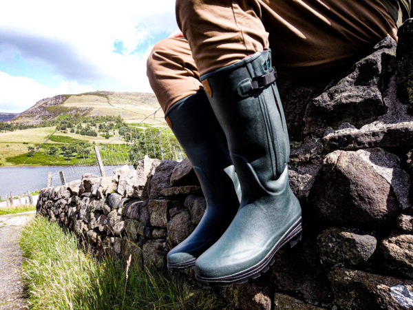 Zipped boot in Forest Green